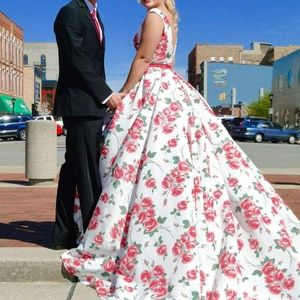 Sherri Hill Floral Gown